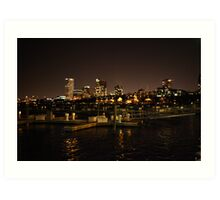 Milwaukee Night Skyline Art Print
