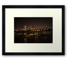 Milwaukee Night Skyline Framed Print