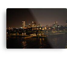 Milwaukee Night Skyline Metal Print