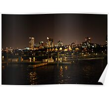 Milwaukee Night Skyline Poster
