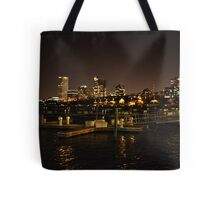Milwaukee Night Skyline Tote Bag