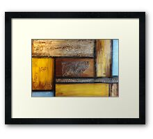 Browns and Blue Framed Print