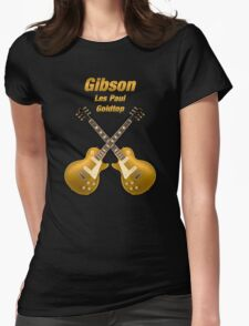 Gibson Les Paul Goldtop Womens Fitted T-Shirt
