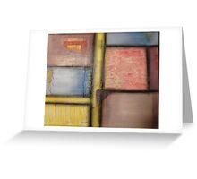 Pastel Blocks Greeting Card