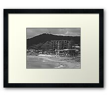 Work meets surf. Framed Print