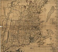 Vintage Map of The New England Coast (1771) by BravuraMedia