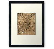 Vintage Map of The New England Coast (1771) Framed Print