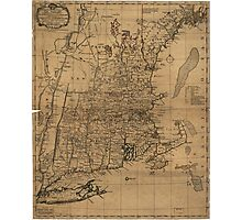 Vintage Map of The New England Coast (1771) Photographic Print