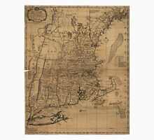 Vintage Map of The New England Coast (1771) T-Shirt