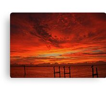 ft pierce sunrise Canvas Print
