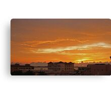 sunrise over ft pierce Canvas Print