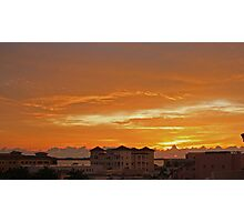 sunrise over ft pierce Photographic Print