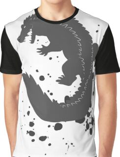 Splatter Crocodile Graphic T-Shirt