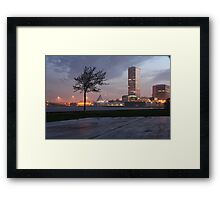 Milwaukee Night Cityscape Framed Print