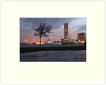 Milwaukee Night Cityscape by Thomas Murphy