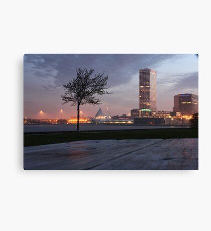 Milwaukee Night Cityscape Canvas Print