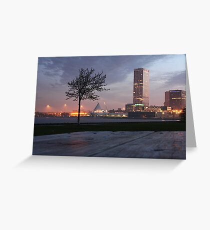 Milwaukee Night Cityscape Greeting Card
