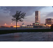 Milwaukee Night Cityscape Photographic Print
