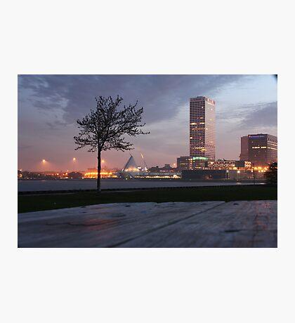 Milwaukee Night Cityscape Photographic Print