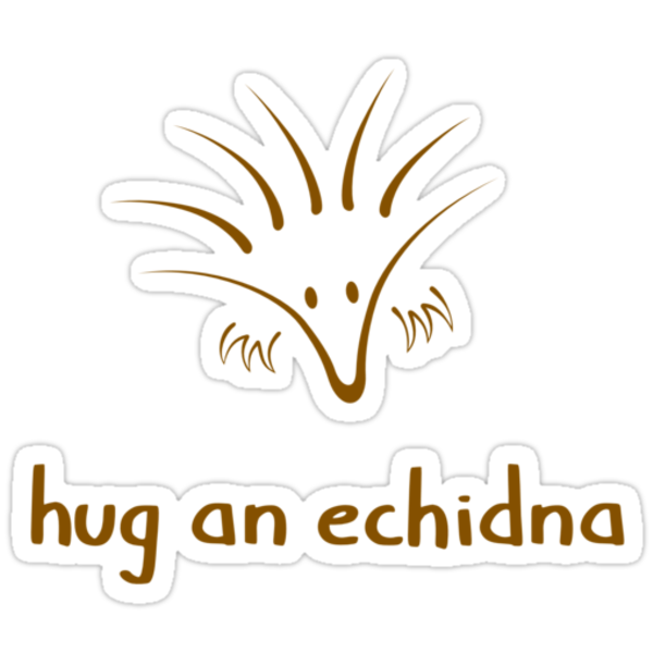 Hug An Echidna - two lof bees by Josh Bush