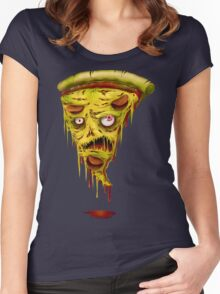 _zombie pizza Women's Fitted Scoop T-Shirt