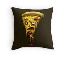_zombie pizza Throw Pillow
