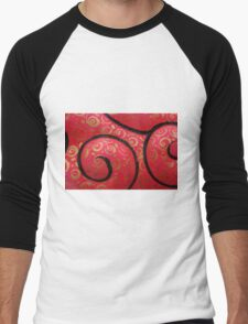 Abstract - shell Men's Baseball ¾ T-Shirt