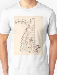 Vintage Map of New Hampshire (1819) T-Shirt