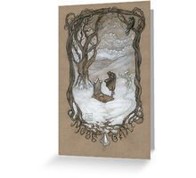 Funeral tree over Moss Oak Greeting Card
