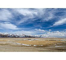 Amazing view of high Tibetan plateau and cloudy sky  Photographic Print