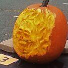Flaming Skull 3D Pumpkin Carve by Stephen  J. Vattimo