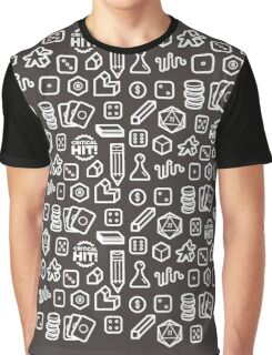Board Game Pieces – Inverted Graphic T-Shirt