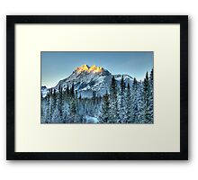 Sun Peaks of Mount Kidd Framed Print