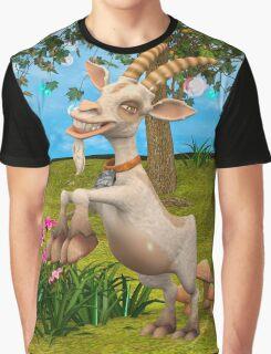 Happy Goat Graphic T-Shirt