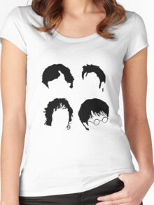 Doctor Who+Sherlock+LoTR+Harry Potter FOR LIGHT COLOURS Women's Fitted Scoop T-Shirt