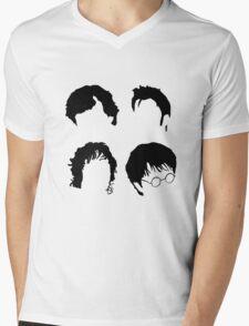 Doctor Who+Sherlock+LoTR+Harry Potter FOR LIGHT COLOURS Mens V-Neck T-Shirt