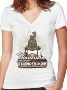 Visit Bartertown! Women's Fitted V-Neck T-Shirt