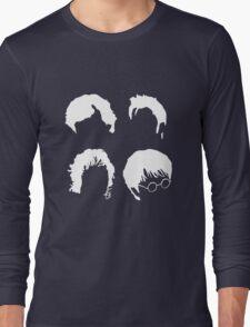 Doctor Who+Sherlock+LoTR+Harry Potter FOR DARK COLOURS Long Sleeve T-Shirt