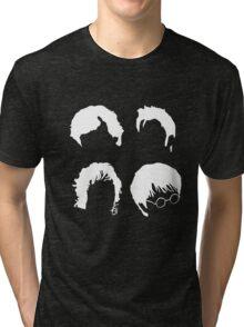 Doctor Who+Sherlock+LoTR+Harry Potter FOR DARK COLOURS Tri-blend T-Shirt