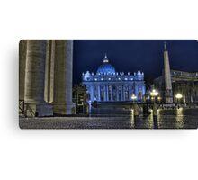 Vatican Saint Peter's square, unusually empty Canvas Print