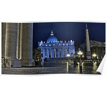 Vatican Saint Peter's square, unusually empty Poster