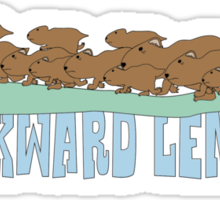 Awkward Lemming Sticker