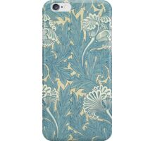 William Morris Tulip furnishing fabric in Blue iPhone Case/Skin