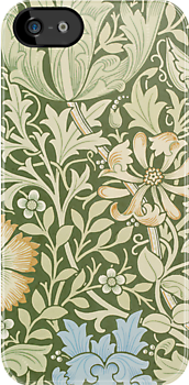 William Morris Floral Pattern - Compton wallpaper by Heidi Hermes
