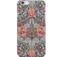 William Morris Floral Pattern in Red and Blue iPhone Case/Skin