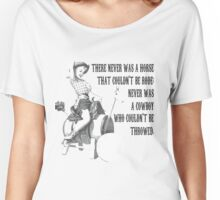 Pinup Cowboy  Women's Relaxed Fit T-Shirt