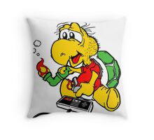 Video Games N' Mushrooms Throw Pillow