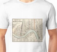 Vintage Map of New Orleans Louisiana (1845) Unisex T-Shirt
