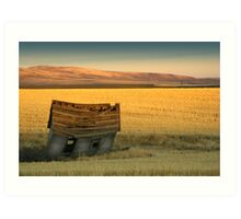 Homestead Cabin in Wheat Country Art Print