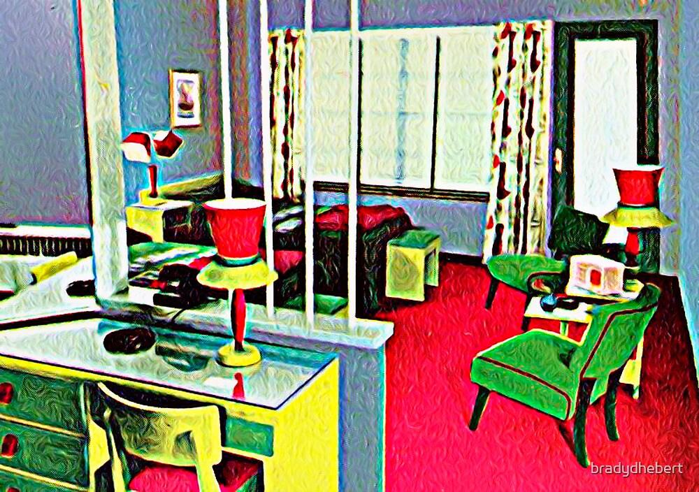 Retro Hotel Room by bradydhebert